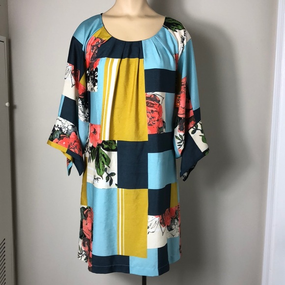 Uncle Frank Dresses & Skirts - Uncle frank geo mixed print dress XS